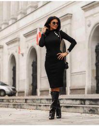 Дамска рокля в черно - код 7099