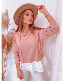 Дамска блуза в розово - код 3898