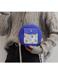 Кръгла  чанта в синьо - код B163