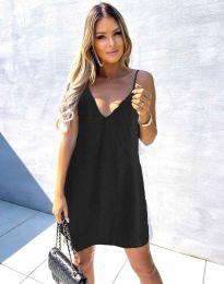 Дамска рокля в черно - код  4189