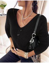 Дамска блуза в черно - код 8051