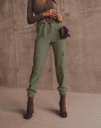 Дамски панталон в цвят масленозелено - код 2996