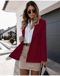 Дамско сако с копче в бордо - код 4569
