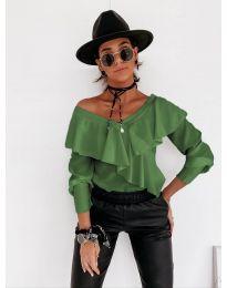Дамска блуза в зелено - код 6030