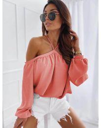 Дамска блуза в цвят корал - код 6561