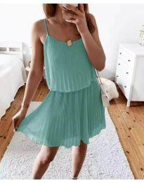 Атрактивна дамска рокля в цвят мента - код 8596