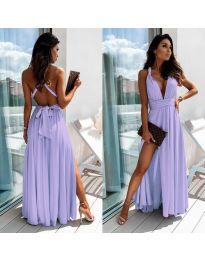 Дълга рокля в светло лилаво - код 0304