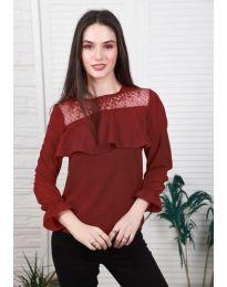 Дамска блуза в цвят бордо - код 0628