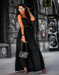 Свободна дълга рокля в черно - код 2301