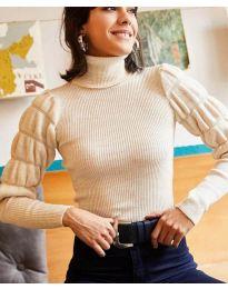 Дамска блуза в бежово - код 0737