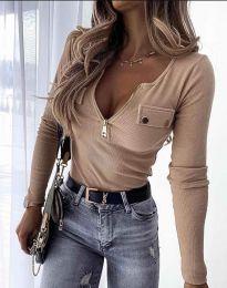 Дамска блуза в бежово - код 11615