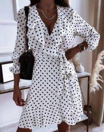 Елегантна дамска рокля в бяло - код - 0438