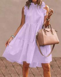 Феерична рокля в светлолилаво - код 2663