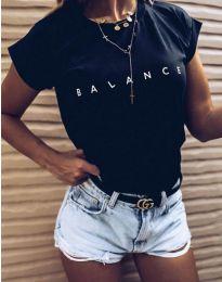 Черна дамска тениска BALANCE - код 3618