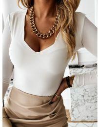 Дамска блуза в бяло - код 4086