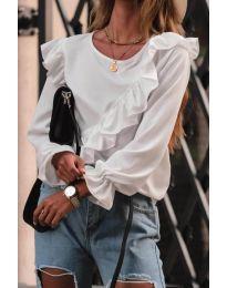 Дамска блуза в бяло - код 6009