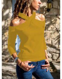 Дамска блуза в цвят горчица - код 4616