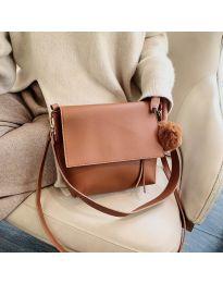 Дамска чанта в кафяво - код B23-5977