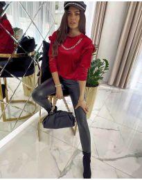 Дамска блуза в червено - код 6189