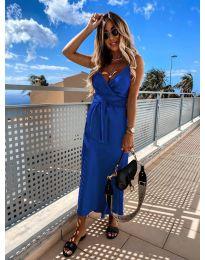 Елегантна рокля в син цвят - код 547