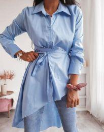 Стилна дамска риза в синьо - код 6944