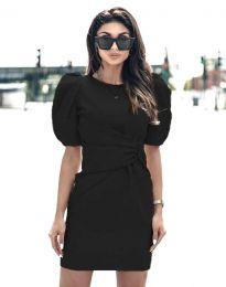 Атрактивна дамска рокля в черно - код 9438