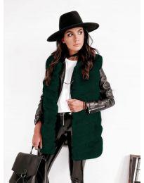 Дамски елек в маслено зелено - код 9992