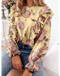Дамска блуза в жълто - код 4256