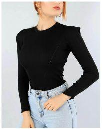 Дамска блуза в черно - код 374