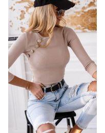 Атрактивна дамска блуза в бежово - код 3151