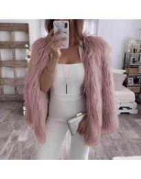 Дамско късо палто в розово - код 4767