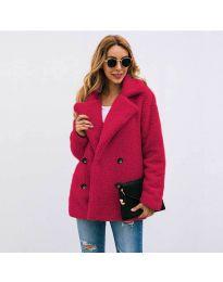 Дамско палто в бордо - код 4777