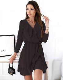 Атрактивна дамска рокля в черно - код 0578