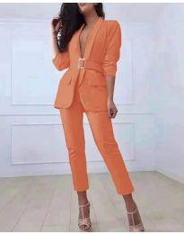 Комплект от сако и панталон в оранжево - код 813