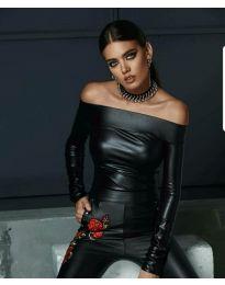 Елегантна блуза в черно - код 8289