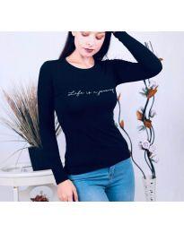 Дамска блуза в тъмносиньо - код 3338
