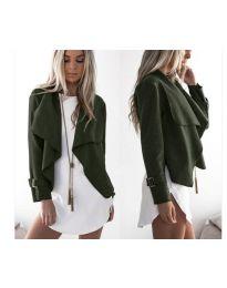 Дамско яке в маслено зелено - код 4033