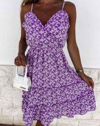 Атрактивна рокля на цветя - 3265 - 1