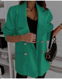 Свободно дамско сако в зелено - код 5868