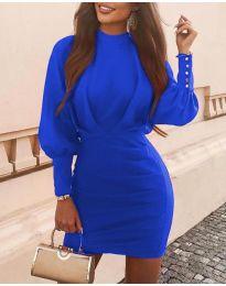 Дамска рокля в синьо - код 4016