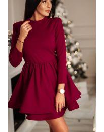 Елегантна рокля в цвят бордо - код 809 - 2