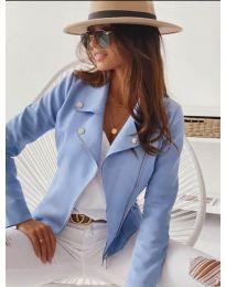 Дамско тънко яке в светло синьо - код 562