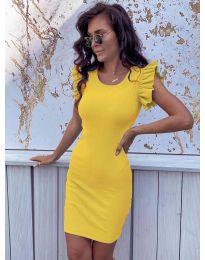 Изчистена рокля в жълто - 199