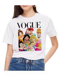 Тениска - код 3662 - бяло