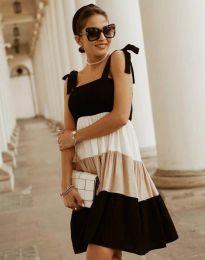 Кокетна дамска рокля в черно - код 11922