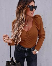 Дамска блуза в кафяво - код 394