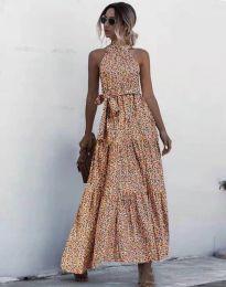 Дълга рокля с атрактивен десен - 6214 - 3