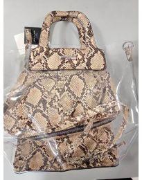 Дамска чанта в кафяв змийски десен - код DD-570