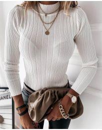 Дамска блуза в бяло  - код 9930