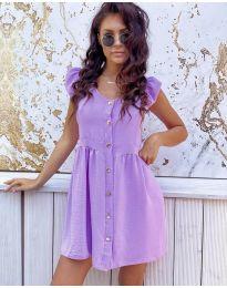 Свободна изчистена рокля в лилаво - код 3033